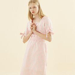 Gingham Check Midi Dress