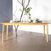 원목 식탁 완전사선 800x2000 6인용식탁 회의용테이블