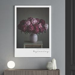 비기닝 모란 꽃 그림 액자 A3 포스터