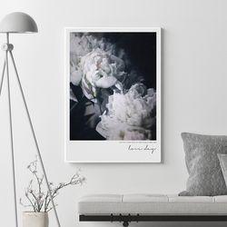 러브데이 모란 꽃 그림 액자 A3 포스터