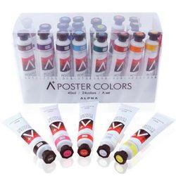 알파색채 에이플러스 포스터칼라세트 40ml 24색A 미술용품