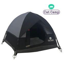 캣캠프 캣텐트 블랙-고양이하우스