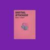 METAL STICKER ROSE