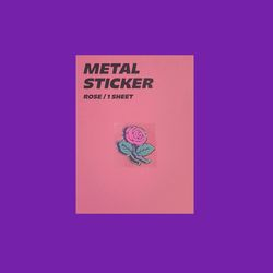 METAL STICKER ROSE