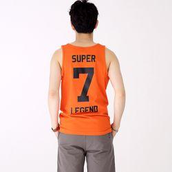 슬리버 3902 슈퍼소니 민소매 티셔츠 오렌지