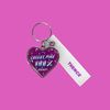 HEART STEEL KEY HOLDER CHEEKY PINK