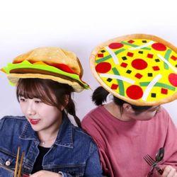 햄버거 피자 음식 모자 2종
