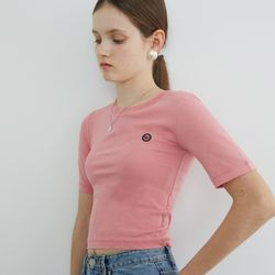 LOGO POINT CROP T (PINK)