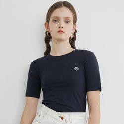 LOGO POINT CROP T (NAVY)
