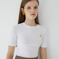 LOGO POINT CROP T (WHITE)