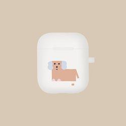 강아지 일러스트 에어팟 케이스 레이 Ley