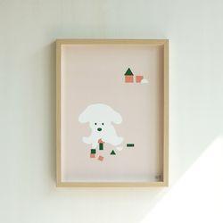 강아지 일러스트 포스터 마이베이비2 30x40 cm