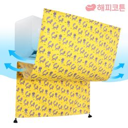 에어컨 바람막이 가리개커튼 패브릭포스터 여우