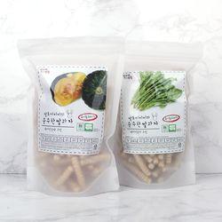 질마재농장 스틱 백미단호박70g+백미시금치70g