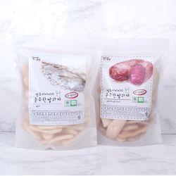 [주말할인] 질마재농장 떡 쌀과자 백미80g+백미자색고구마80g