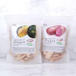 질마재농장떡쌀과자 백미단호박80g+백미자색고구마80g