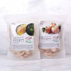 질마재농장떡쌀과자 백미단호박80g+백미배80g