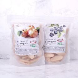 질마재농장 떡쌀과자 백미배80g+현미블루베리80g