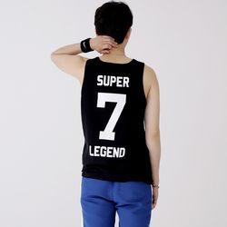 슬리버 3902 슈퍼소니 민소매 티셔츠 블랙