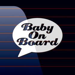 캐찹 자동차스티커 말풍선 Baby on Board 02