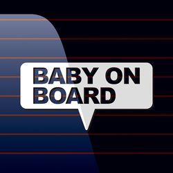캐찹 자동차스티커 말풍선 Baby on Board 03