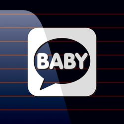 캐찹 자동차스티커 말풍선 Baby 04