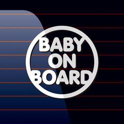 캐찹 자동차스티커 원형 Baby on Board 05