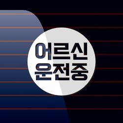 캐찹 자동차스티커 원형 어르신운전중 04