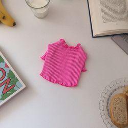 웨이브 크롭탑 (핑크)