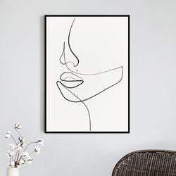 우먼페이스 드로잉 액자 그림 A3 포스터