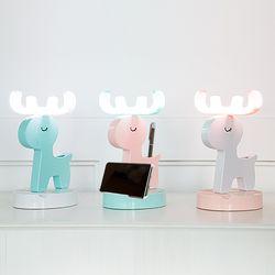 [무료배송] 레토 충전식 무선 LED 사슴 무드등 핸드폰거치대 LML-DH08