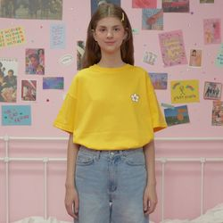 Flower point tshirt-yellow