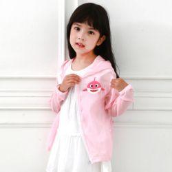 아동 바람막이 핑크상어 후드집업