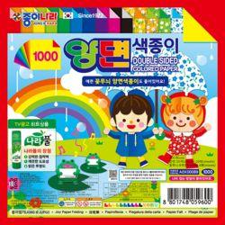 1000 꽃무늬 양면색종이 1봉24매/1통 15봉