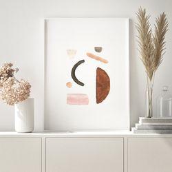 페블핑크 추상화 그림 인테리어 액자  A3 포스터