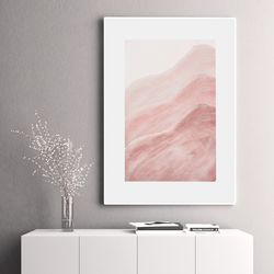 핑크웨이브 추상화 인테리어 그림 A3 포스터