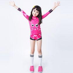 아동래쉬가드 핑크몬스터 상하의SP세트수영복래시가드