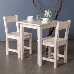 원목 티테이블세트 일자사선 NC-C2 (테이블1개+의자2개)