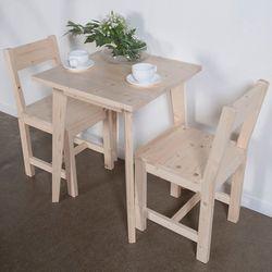 원목 티테이블세트 완전사선 NC-C2 (테이블1개+의자2개)