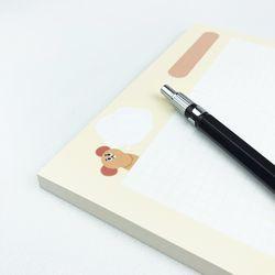 [대떡메]귀여운 생쥐 캐릭터 엘린 빅메모패드