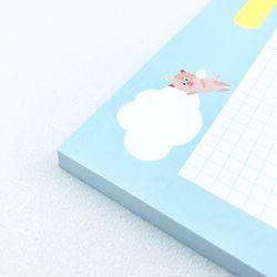 [대떡메]귀여운 돼지 캐릭터 프랭크 빅메모패드
