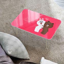 라인프렌즈 테이블 720 접이식 공부상 밥상 노트북책상