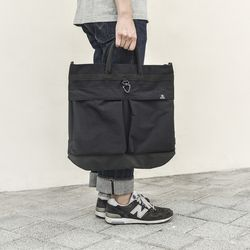 WASHED CORDURA HELMET BAG - BLACK