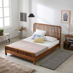라티나 아카시아 원목 침대 프레임 퀸