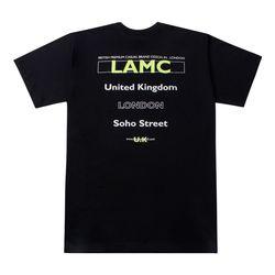 LAMC FILL LOGO OVERFIT SHORT SLEEVE (BLACK)