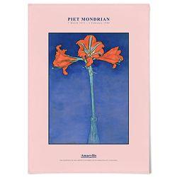 중형 패브릭 포스터 빈티지 꽃 그림 액자 몬드리안 아마릴리스