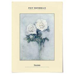 중형 패브릭 포스터 빈티지 꽃 명화 그림 액자 몬드리안 장미