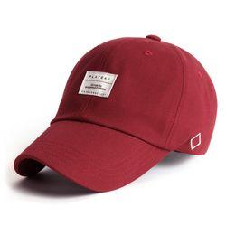 19 BASIC W LABEL CAP RED