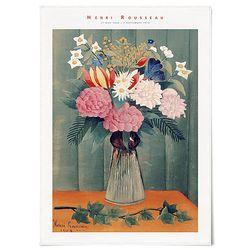 중형 패브릭 포스터 빈티지 명화 꽃 그림 액자 앙리 루소 no.1