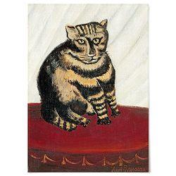 중형 패브릭 포스터 명화 고양이 동물 그림 액자 앙리 루소 no.3